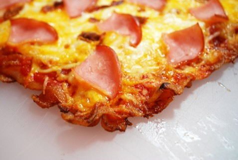 Fully Cooked Bacon Crust Pizza