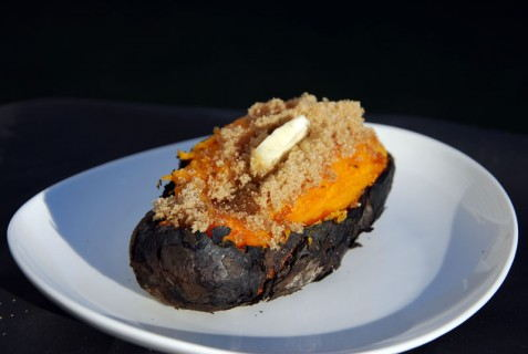 Coal Roasted Sweet Potato