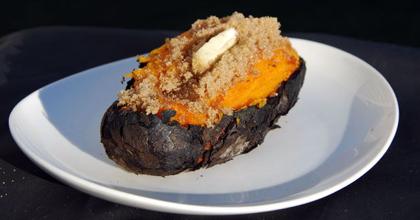 Coal Roasted Sweet Potatoes