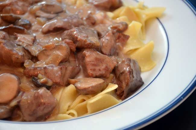 Crock-Pot Sirloin Tips with Mushrooms