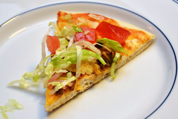 Thin Crust Taco Pizza