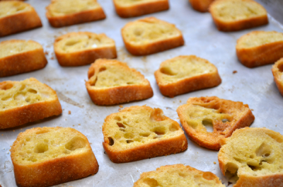 Browned crostini