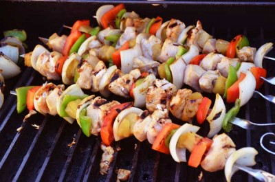 Grill the skewers