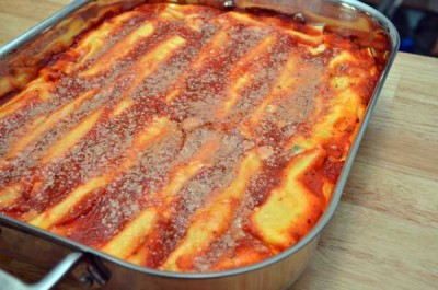 Delicious homemade manicotti
