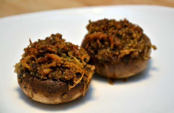Smoked Stuffed Mushrooms