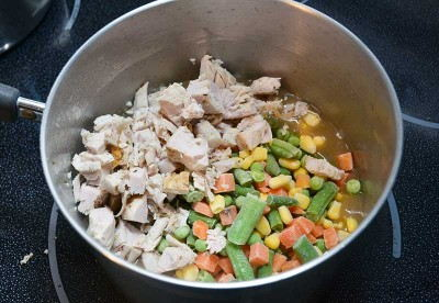 Add the Turkey and Vegetables