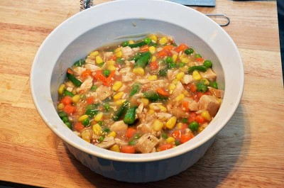 Pour into an oven safe dish
