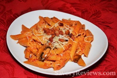 Penne Alla Vokda with Pancetta