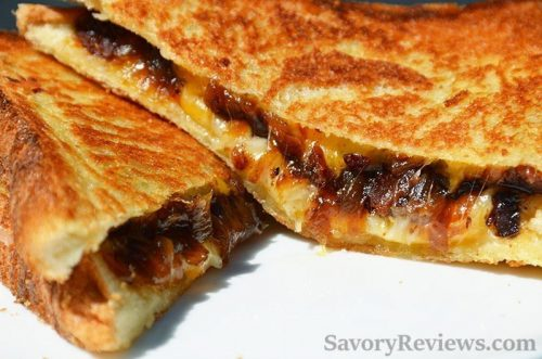 Bacon Onion Jam Grilled Cheese