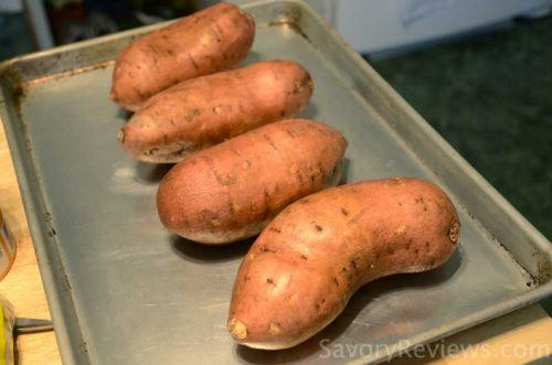Bake the sweet potatoes