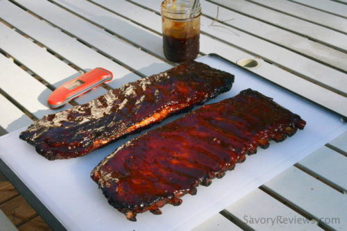 St. Louis Ribs Smoked on a gas grill