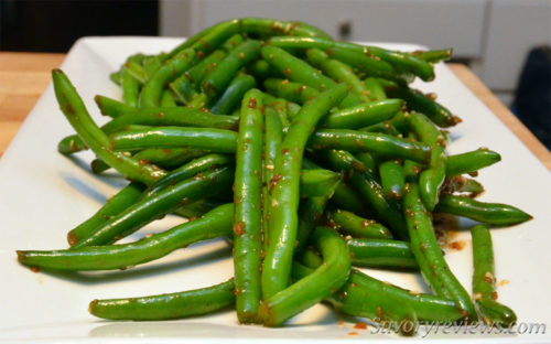 Perfectly cook garlic soy green beans